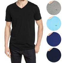 Lacoste Men's Premium Pima Cotton V-Neck Sport Shirt T-Shirt Tonal Croc image 1