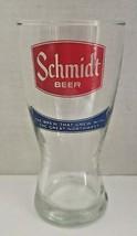 Vintage Schmidt Beer 10 Oz Glass Beer Pilsner Vintage Barware Man Cave  ... - $16.99
