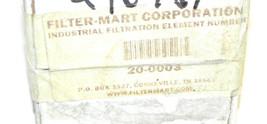 FACTORY SEALED FILTER MART 20-0003 INDUSTRIAL FILTER 200003 image 2
