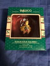 1989 New in Box - Enesco Christmas Ornament - Scrub-A-Dub Squirrel - #561037 - $5.44