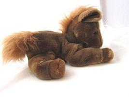 A&A Little Brown Pony Plush White Spot on Forehead Cute Soft and Cuddly - $18.89