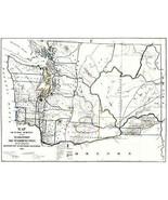 Washington Territory Public Survey - Giddings 1865 - 23.00 x 30.31 - $36.58+