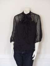 DIANE von FURSTENBERG GLASGLOW BLACK TOP  BLOUSE - US 10 - UK 14 - £65.72 GBP