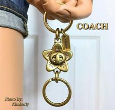 COACH Valet Keychain Handbag Turnlock Wild Flower Charm NWT - $44.54