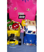 Lot of 2 M&M Dispenser Vehicles! Truck and Hot Rod $50 - $50.00