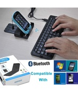 Folding Mini Bluetooth Wireless Keyboard for iphone iPad Android Tablet ... - $25.88