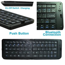 Folding Mini Bluetooth Wireless Keyboard for iphone iPad Android Tablet - $25.88
