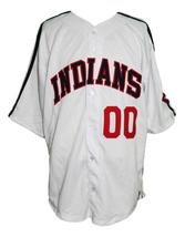 Willie Mays #00 Major League Movie Button Down Baseball Jersey White Any Size image 1