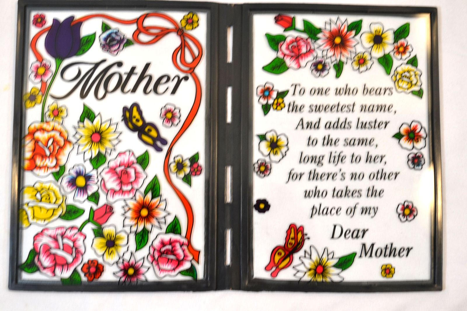 Mother Stained-Glass Plaque