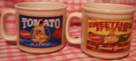 Campbell's Soup Tomato Sunny Fuit, Delicious Vegetable (2) Thick Mug Cup... - $25.99