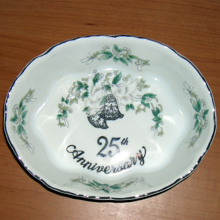 L 25th anniversary dish