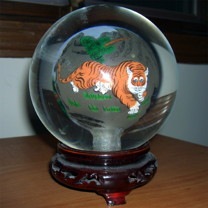 Tiger Glass Ball
