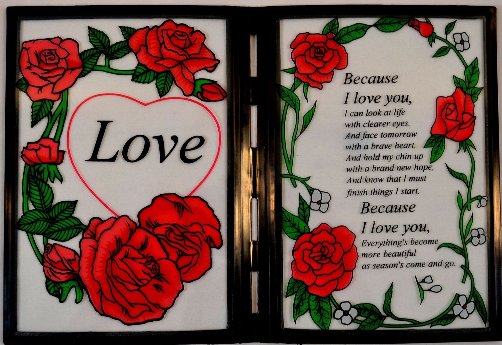Love Stained Glass Plaque