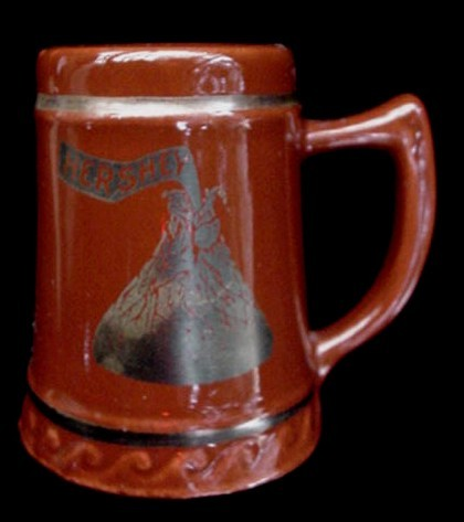 Old Hershey's Chocolate Pottery Pitcher Sewing Thimble Cocoa