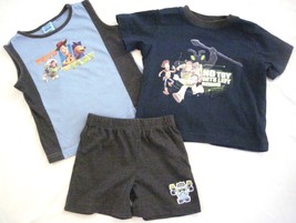 Boy Size 24 Mos Toy Story  3PC Shorts Tank Top & T-shirt  Set  Navy Gray... - $10.77