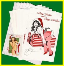 Woron's Bettie Page Christmas Cards set#2 SIGNED Scarce - $13.85