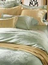Sferra Green Floral Queen Sheet Set Jacquard Egyptian Cotton 590 Italy Darcy NEW - $544.50