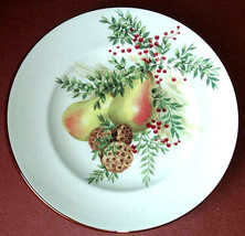 "Lenox Williamsburg Boxwood and Pine PEAR Accent Luncheon Plate 9.25"" New - $26.90"