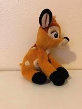 "Plush Stuffed Animal Bambi 9"" Beanbag Disney World - $5.41"