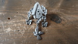 "Vintage LCD BIRD HOUSE Brooch 2.5"" - $15.63"