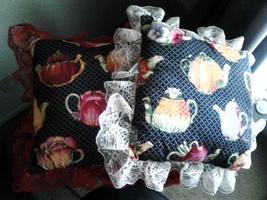 Lace Trim Pillows/2 - $10.00