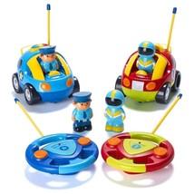 Pack 2 Carros De Control, Police Car Y Race Car Cartoon Para Niños, Con ... - $57.83