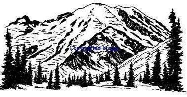 ROCKY MOUNTAINS-NEW RELEASE! mounted rubber stamp