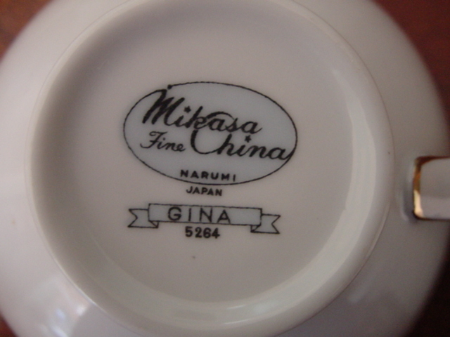 Vintage  Mikasa Fine China-Gina Pattern