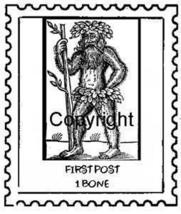 NEANDERTHAL POSTOID new mounted rubber stamp - $6.00