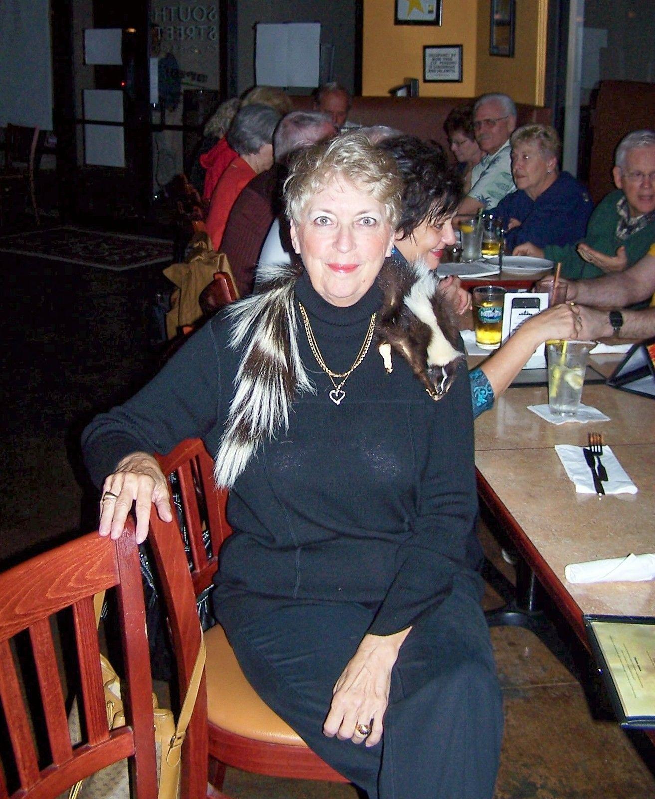 Skunk  Fur Pelt Skin Black  White  33in Long Genuine Skunk