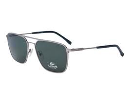 LACOSTE Men's Rectangular Sunglasses L194S 035 Matte Grey Green L194 57mm NEW  - $163.30