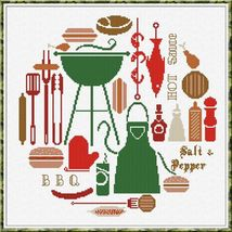 BBQ World cross stitch chart Alessandra Adelaide Needlework - $16.20