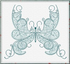 Happy Butterfly cross stitch chart Alessandra Adelaide Needlework - $16.20