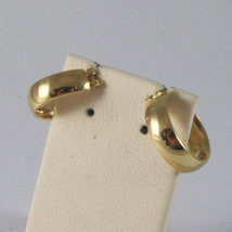SOLID 18KT. YELLOW GOLD CIRCLE, EARRINGS DIAMETER 0,51 IN MADE IN ITALY