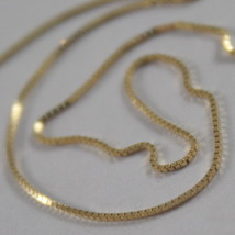 18K SOLID YELLOW GOLD CHAIN NECKLACE, VENETIAN MESH 15.75 INCH, MADE IN ITALY