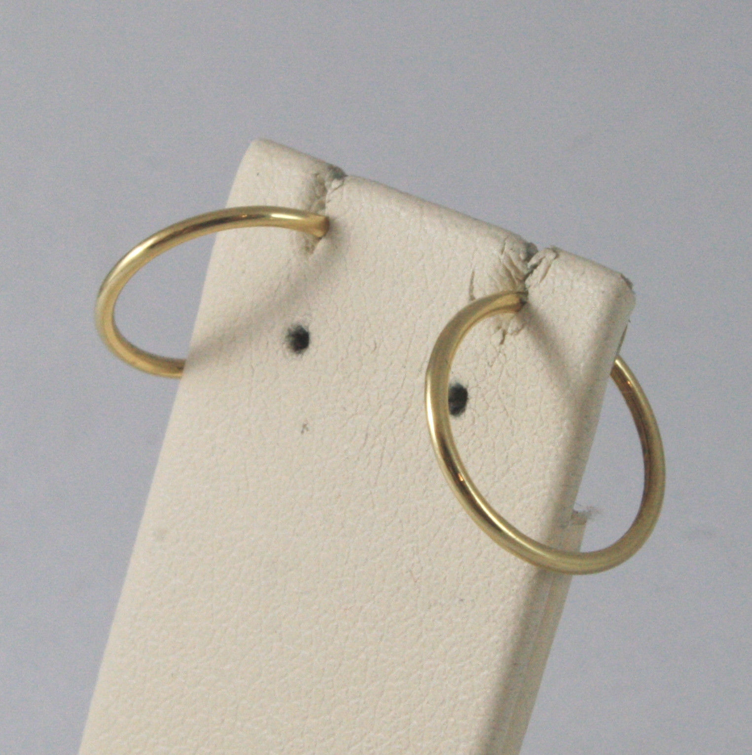SOLID 18KT. YELLOW GOLD CIRCLE TUBE EARRINGS DIAMETER 0,51 IN MADE IN ITALY 18K