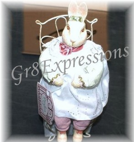 "Shabby n Chic Victorian ""MADI MAY"" Easter Bunny Rabbit"