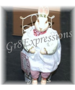"Shabby n Chic Victorian ""MADI MAY"" Easter Bunny Rabbit - $14.95"