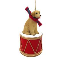 Labrador Retriever Yellow Drum Ornament - $15.99