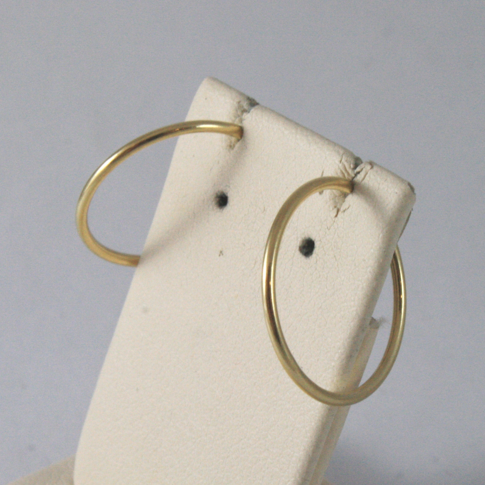 SOLID 18KT. YELLOW GOLD CIRCLE TUBE EARRINGS DIAMETER 0,63 IN MADE IN ITALY 18K