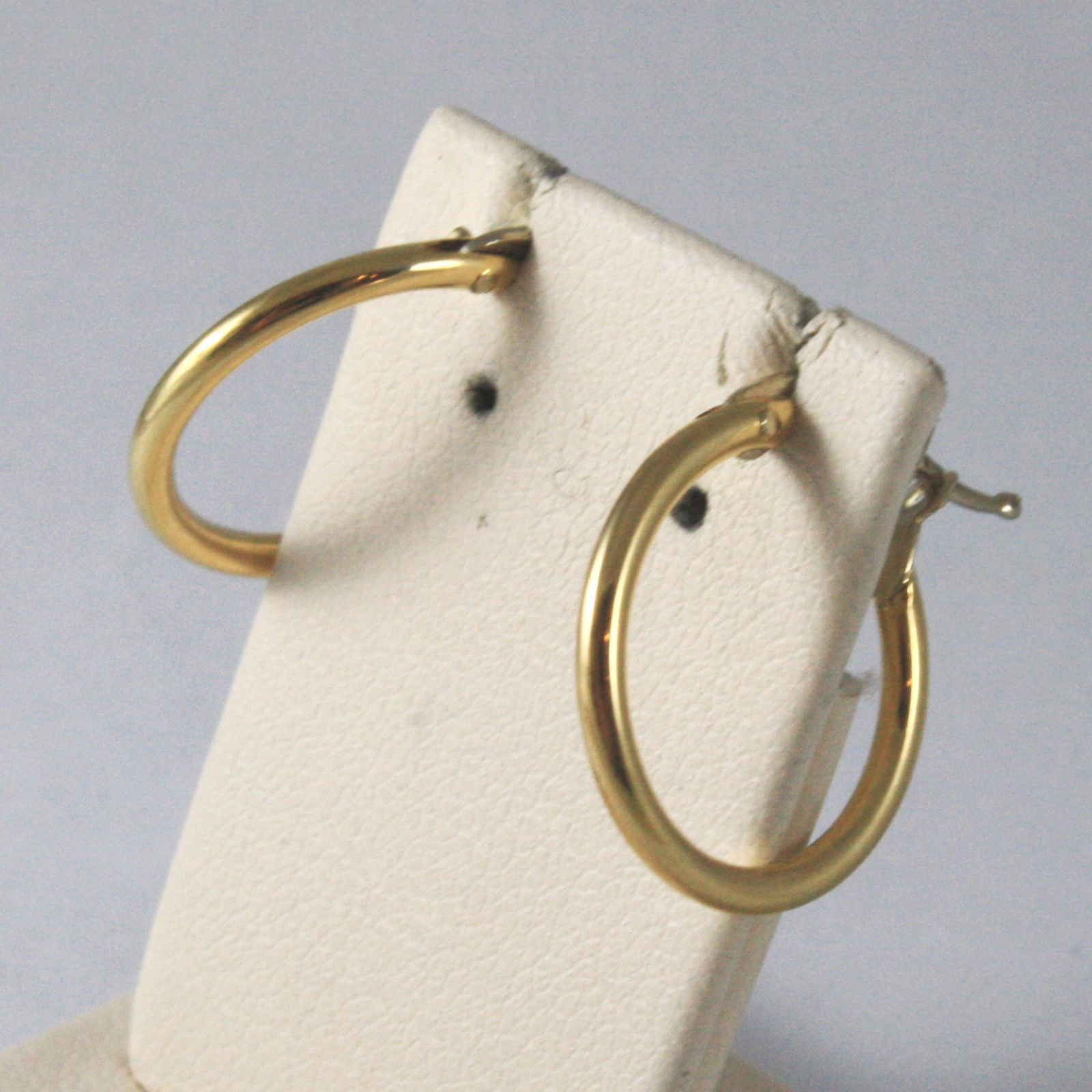 SOLID 18KT. YELLOW GOLD CIRCLE TUBE EARRINGS DIAMETER 0,59 IN MADE IN ITALY 18K