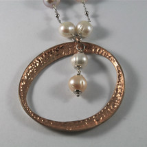 .925 SILVER RHODIUM NECKLACE WITH 10 MM FRESHWATER WHITE PEARLS, 19.69 IN LENGHT image 4