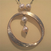 .925 SILVER RHODIUM NECKLACE WITH 10 MM FRESHWATER WHITE PEARLS, 19.69 IN LENGHT image 1