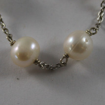 .925 RHODIUM SILVER BRACELET WITH FRESHWATER WHITE PEARLS image 2