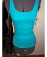 WOMEN'S/JRS NOLLIE SOLID BOYFRIEND 2 TANK TOP CARIBBEAN BLUE NEW $19 - $9.99