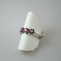 ANELLO ORO BIANCO .750 18K RUBINI DIAMANTI  - WHITE GOLD RING DIAMOND RUBIES