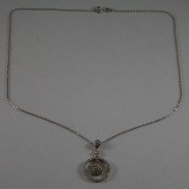.925 SILVER RHODIUM NECKLACE WITH ZIRCONIA, ROUND MESH  LENGTH 17,91 image 2
