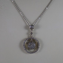 .925 SILVER RHODIUM NECKLACE WITH ZIRCONIA, ROUND MESH  LENGTH 17,91 image 3