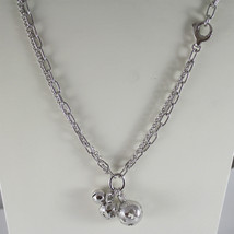 ROBERTO GIANNOTTI, SFA31GIR SILVER NECKLACE WITH 3 ANGELS CALL, MADE IN ITALY image 1