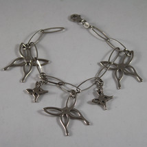 .925 RHODIUM SILVER BRACELET WITH BUTTERFLIES